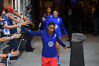 Saint Paul, MN - SEPTEMBER 03: Crystal Dunn #19 of the United States during their 2019 Victory Tour match versus Portugal at Allianz Field, on September 03, 2019 in Saint Paul, Minnesota.