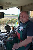 CROATIA, Osijek, agricultural company Fermopromet, maize harvest, AMS Precision farming / KROATIEN, Osijek, Maisernte bei Fermopromet