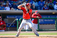 Washington Nationals outfielder Steven Souza #2 during a Spring Training game against the Philadelphia Phillies at Bright House Field on March 6, 2013 in Clearwater, Florida.  Philadelphia defeated Washington 6-3.  (Mike Janes/Four Seam Images)