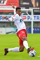 Muhammed Badamosi (19) of KV Kortrijk pictured during a friendly soccer game between Sparta Petegem and KV Kortrijk during the preparations for the 2021-2022 season , on Wednesday 30th of June 2021 in Petegem , Belgium . PHOTO STIJN AUDOOREN | SPORTPIX.BE