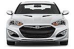 Car photography straight front view of a2015 Hyundai Genesis Coupe 3.8T 8-Speed A/T 2 Door Coupe 2WD Front View