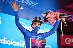 Ruben Guerreiro (POR) EF Pro Cycling retains the mountains Maglia Azzurra at the end of Stage 10 of the 103rd edition of the Giro d'Italia 2020, running 177km from Lanciano to Tortoreto, Italy. 13th October 2020. <br /> Picture: LaPresse/Massimo Paolone | Cyclefile<br /> <br /> All photos usage must carry mandatory copyright credit (© Cyclefile | LaPresse/Massimo Paolone)