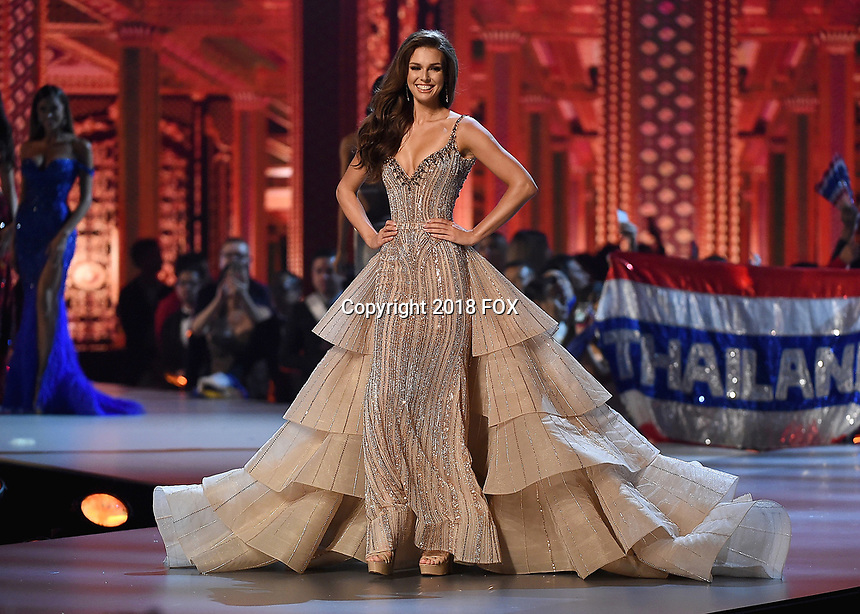 BANGKOK, THAILAND - DECEMBER 17:  Miss Canada Marta Stepien onstage on the 2018 MISS UNIVERSE competition at the Impact Arena in Bangkok, Thailand on December 17, 2018. (Photo by Frank Micelotta/FOX/PictureGroup)