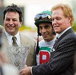 30 January 2010: Jockey John Velaquez after winning the Sunshine Millions Sprint Stakes at Gulfstream Park in Hallandale Beach, FL.