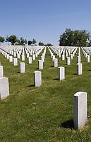Jefferson Barracks National Cemetery honoring armed veterans in St Louis Missouri