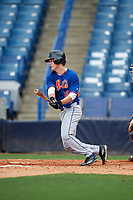 Drake Frix (12) of Darlington High School in Plainville, Georgia playing for the New York Mets scout team during the East Coast Pro Showcase on July 28, 2015 at George M. Steinbrenner Field in Tampa, Florida.  (Mike Janes/Four Seam Images)