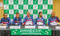 The Hague, The Netherlands, September 12, 2017,  Sportcampus , Davis Cup Netherlands - Chech Republic, Pre Draw press conference, Chech team,<br /> Photo: Tennisimages/Henk Koster
