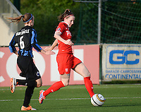 20140606 - Koksijde , BELGIUM : Twente's Ellen Jansen pictured during the soccer match between the women teams of Club Brugge Vrouwen  and FC Twente Vrouwen  , on the 30th matchday of the BeNeleague competition on Friday 6th June 2014 in Koksijde .  PHOTO DAVID CATRY