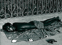 Bettler in Kalkutta, Indien 1974