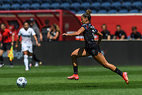 BRIDGEVIEW, IL - JUNE 5: Sarah Gorden #11 of the Chicago Red Stars dribbles the ball during a game between North Carolina Courage and Chicago Red Stars at SeatGeek Stadium on June 5, 2021 in Bridgeview, Illinois.
