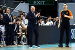 Real Madrid's coach Pablo Laso during Euroligue match between Real Madrid and Zalgiris Kaunas at Wizink Center in Madrid, Spain. April 4, 2019.  (ALTERPHOTOS/Alconada)