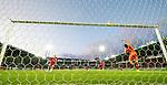 08.08.2019 FC Midtjylland v Rangers: Jordan Jones hits the bar