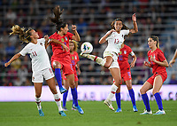 Saint Paul, MN - SEPTEMBER 03: Fátima Pinto #13 of Portugal during their 2019 Victory Tour match versus United States at Allianz Field, on September 03, 2019 in Saint Paul, Minnesota.
