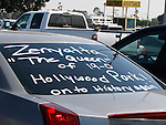 October 2, 2010.Car decorated by Zenyatta fan in parking lot at Hollywood Park  before the undefeated thorobred riden by Mike Smith won The Lady's Secret Stakes at Hollywood Park, Inglewood, CA