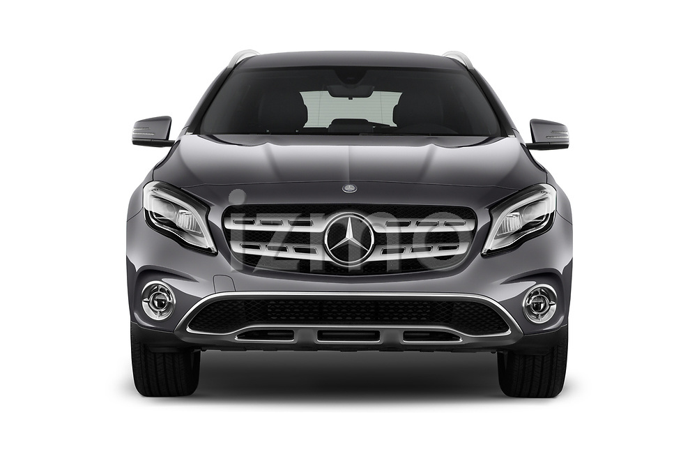Car photography straight front view of a 2018 Mercedes Benz GLA Base 5 Door SUV