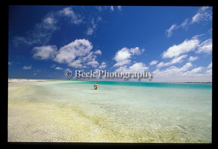 Fly fishing on the coast of Christmas Island