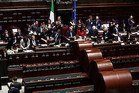 Ul momento dello scrutinio dei voti, durante la quarta seduta comune di senatori e deputati per l'elezione del nuovo Capo dello Stato alla Camera dei Deputati, Roma, 19 aprile 2013..A moment of the ballot during the fourth common plenary session of senators and deputies to elect the new Head of State, at the Lower Chamber in Rome, 19 April 2013..UPDATE IMAGES PRESS/Riccardo De Luca