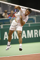 21-2-06, Netherlands, tennis, Rotterdam, ABNAMROWTT,  Olivier Rochus in his match against Meltzer