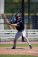 Atlanta Braves Michael Mateja (34) during a Minor League Extended Spring Training game against the Tampa Bay Rays on April 15, 2019 at CoolToday Park Training Complex in North Port, Florida.  (Mike Janes/Four Seam Images)
