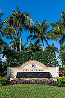 The entrance sign for the city of Naples in Florida.