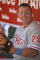 Jim Thome. Baseball: Philadelphia Phillies vs Oakland Athletics in Oakland on June 19, 2005.