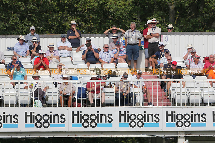 Spectators look on during Essex CCC vs Gloucestershire CCC, LV Insurance County Championship Division 2 Cricket at The Cloudfm County Ground on 6th September 2021