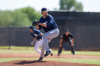 Milwaukee Brewers pitcher Braden Webb (30) delivers a pitch to the plate during an Instructional League game against the San Diego Padres on September 27, 2017 at Peoria Sports Complex in Peoria, Arizona. (Zachary Lucy/Four Seam Images)