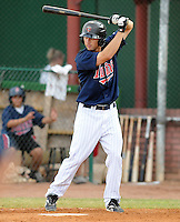 Outfielder Nate Roberts (19) of the Elizabethton Twins in a game against the Danville Braves on July 16, 2010, at Joe O'Brien Field in Elizabethton, Tenn. Roberts was the Minnesota Twins' 5th round pick in the 2010 Draft. Photo by: Tom Priddy/Four Seam Images