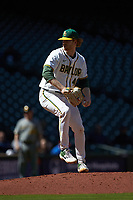 Baylor Bears starting pitcher Paul Dickens (40) in action against the Missouri Tigers in game one of the 2020 Shriners Hospitals for Children College Classic at Minute Maid Park on February 28, 2020 in Houston, Texas. The Bears defeated the Tigers 4-2. (Brian Westerholt/Four Seam Images)