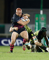 20th December 2020; The Sportsground, Galway, Connacht, Ireland; European Champions Cup Rugby, Connacht versus Bristol Bears; Max Lahiff  brings the ball forward for (Bristol Bears)
