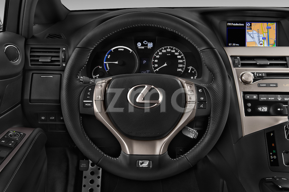Car pictures of steering wheel view of a 2015 Lexus RX F Sport 5 Door SUV 2WD Steering Wheel