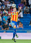 Santiago Mina Lorenzo, Santi Mina, of Valencia CF in action during their La Liga 2017-18 match between Real Madrid and Valencia CF at the Estadio Santiago Bernabeu on 27 August 2017 in Madrid, Spain. Photo by Diego Gonzalez / Power Sport Images