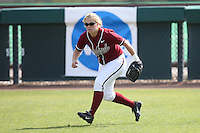 18 May 2007: Stanford Cardinal Shannon Koplitz during Stanford's 3-0 win against the Cal State Northridge Matadors in the 2007 NCAA Softball Regionals at Boyd & Jill Smith Family Stadium in Stanford, CA.