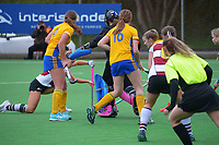 North Harbour 1 v Otago. 2021 National Women's Under-18 Hockey Tournament day five at National Hockey Stadium in Wellington, New Zealand on Thursday, 15 July 2021. Photo: Dave Lintott / lintottphoto.co.nz https://bwmedia.photoshelter.com/gallery-collection/Under-18-Hockey-Nationals-2021/C0000T49v1kln8qk