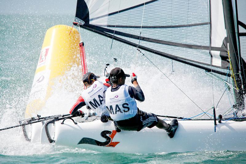 MalaysiaSirena SL16OpenCrewMASMR7Muhamad FauzanRuslan<br /> MalaysiaSirena SL16OpenHelmMASAA14 Ahmad KhairulhafizAhmad Khmbali<br /> Day4, 2015 Youth Sailing World Championships,<br /> Langkawi, Malaysia