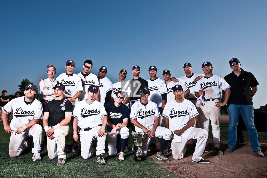 24 May 2009: Team Savigny is seen during the 2009 challenge de France, a tournament with the best French baseball teams - all eight elite league clubs - to determine a spot in the European Cup next year, at Montpellier, France. Rouen wins 7-5 over Savigny.