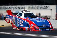 Aug 18, 2019; Brainerd, MN, USA; NHRA funny car driver Robert Hight during the Lucas Oil Nationals at Brainerd International Raceway. Mandatory Credit: Mark J. Rebilas-USA TODAY Sports