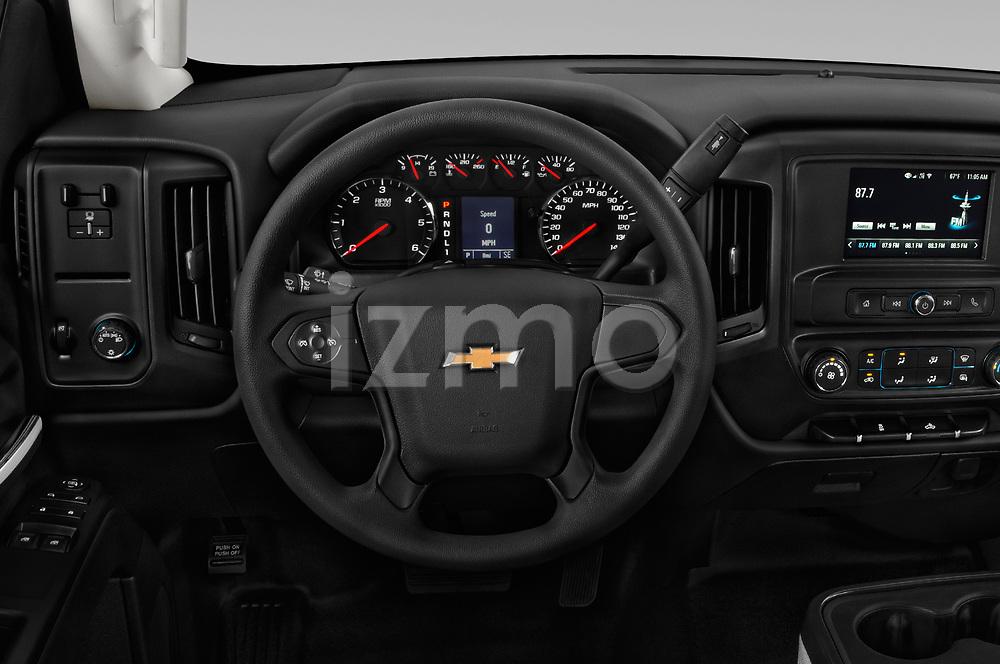 Car pictures of steering wheel view of a 2018 Chevrolet Silverado 2500HD Work Truck Regular Cab  2 Door Pick Up