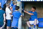 St Johnstone v Bradford City…19.07.16  McDiarmid Park, Perth. Pre-season Friendly<br />Danny Swanson signs autographs for young fans<br />Picture by Graeme Hart.<br />Copyright Perthshire Picture Agency<br />Tel: 01738 623350  Mobile: 07990 594431
