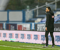 7th November 2020 The John Smiths Stadium, Huddersfield, Yorkshire, England; English Football League Championship Football, Huddersfield Town versus Luton Town; Huddersfield manager Carlos Corberan on the sidelines