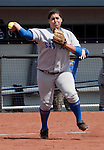 April 7, 2012:   San Jose State Spartans third base Annica Wolfe throws to first against the Nevada Wolf Pack during their NCAA softball game played at Christina M. Hixson Softball Park on Saturday in Reno, Nevada.