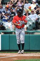 Erie SeaWolves outfielder Marcus Lemon (1) during game against the Trenton Thunder at ARM & HAMMER Park on May 29 2013 in Trenton, NJ.  Trenton defeated Erie 3-1.  Tomasso DeRosa/Four Seam Images