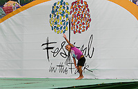A child entertains herself during Festival in the Park. For more than four decades, Charlotte's annual Festival in the Park has brought music, art and fun to Charlotteans and visitors. The festival has been chosen as one of Sunshine Artists Magazine's 200 Best Festivals.