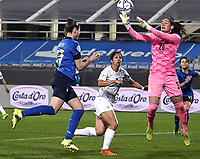 Cecilia Salvai of Italy scores a goal during the Women s EURO 2022 qualifying football match between Italy and Israel at stadio Carlo Castellani in Empoli (Italy), February, 24th, 2021. Photo Image Sport / Insidefoto