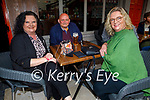 Enjoying the evening in the Fiddler on Friday, l to r: Helen Merritt, Paul Williams and Susan O'Shea.