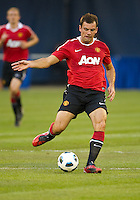 July 16, 2010  Darron Gibson No. 28 of Manchester United during an international friendly between Manchester United and Celtic FC at the Rogers Centre in Toronto.