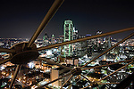 The Dallas skyline is seen from the top of Reunion Tower on September 18, 2008.  (photo by Khampha Bouaphanh)