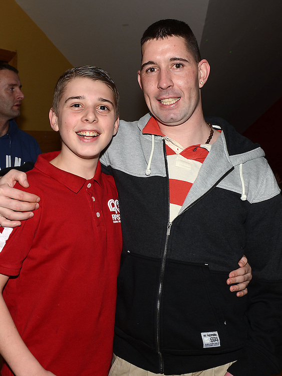 Paul Maguire and Martin Kerr pictured at Darragh Maguire's 21st birthday in the Thatch. Photo:Colin Bell/pressphotos.ie