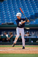 Treyson Hughes (24) of Houston County High School in Warner Robins, GA during the Perfect Game National Showcase at Hoover Metropolitan Stadium on June 19, 2020 in Hoover, Alabama. (Mike Janes/Four Seam Images)