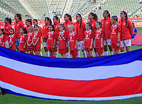 CARSON, CA - FEBRUARY 07: Costa Rica starting eleven during a game between Canada and Costa Rica at Dignity Health Sports Park on February 07, 2020 in Carson, California.